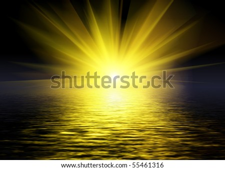 Bright light reflection - stock photo