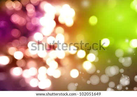 Bright lights green and purple tone background - stock photo