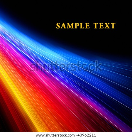 Bright lines on black - stock photo