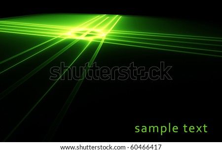 Bright luminescent green surface - stock photo