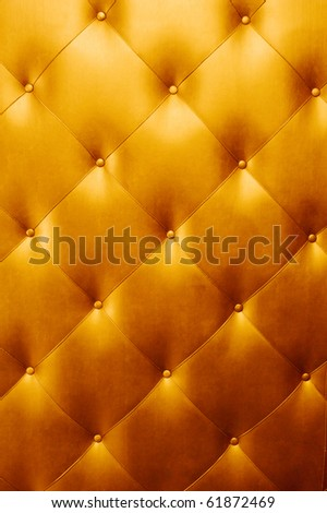 bright luxury golden leather background - stock photo