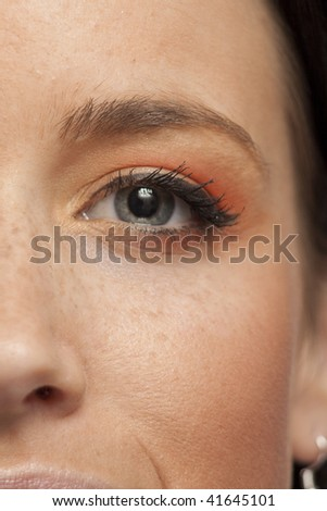 Bright Makeup on a beautiful Young Model