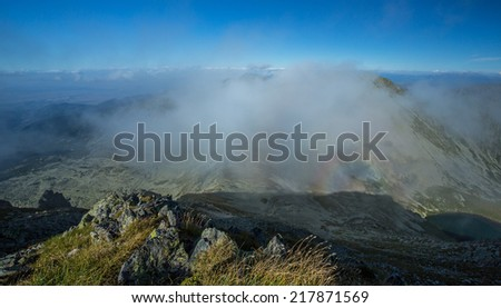 Bright mountain landscape in the Alps, in summer