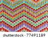 Bright multicolor geometric abstract background textile. Close up - stock photo