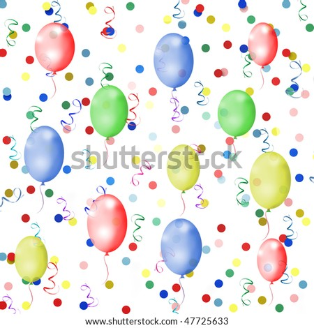 Holiday background balloons streamer confetti on stock for How to make a balloon and streamer backdrop