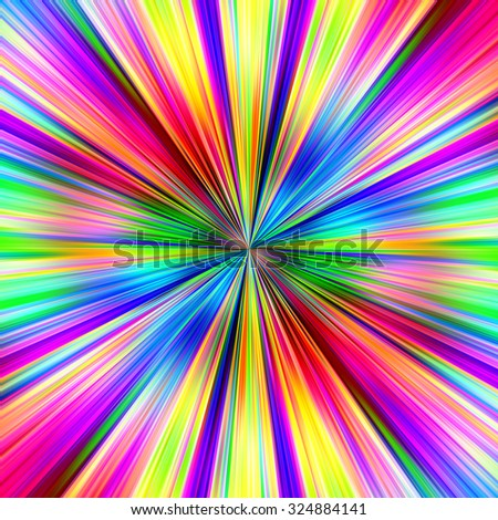 Bright multicolored explosion abstract illustration. - stock photo
