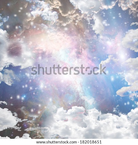 Bright Nebula, gas and stars  Elements of this image furnished by NASA - stock photo