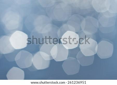 Bright of colorful sun and sea bokeh background - stock photo