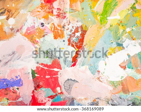 Bright oil-paint palette for background. abstract image