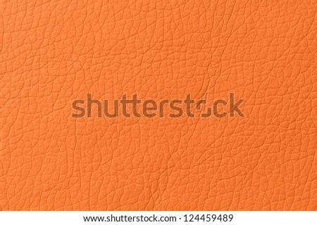 Bright Orange Artificial Leather Background Texture - stock photo