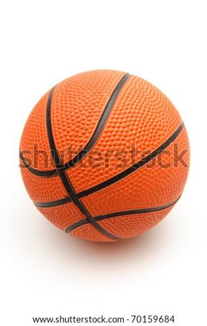 Bright orange basketball ball on a white background - stock photo
