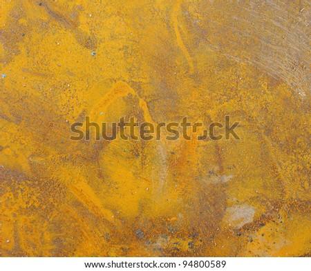 bright orange rust grunge pattern on metal - stock photo