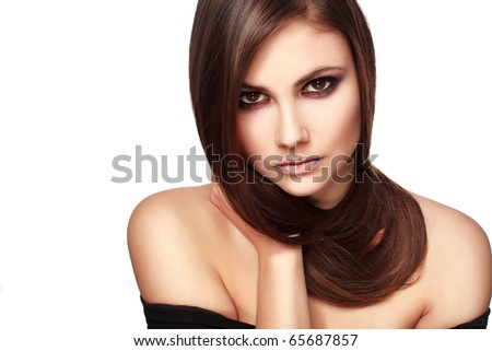 bright picture of beatyfull woman - stock photo