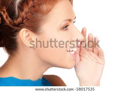 bright picture of teenage girl whispering gossip