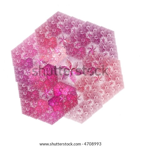 Bright pink flower design on white background - abstract