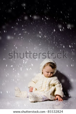 bright portrait of adorable baby in the sweater