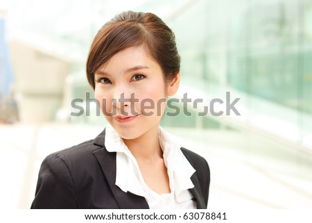 Bright portrait of attractive business woman
