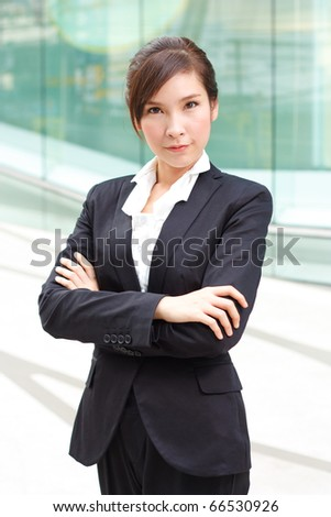Bright portrait of confident business lady