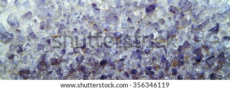 Bright purple texture small crystals. The texture of salt, ice. Closeup - stock photo