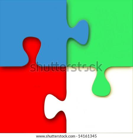 Bright Puzzle, See Vector Also In My Portfolio - stock photo