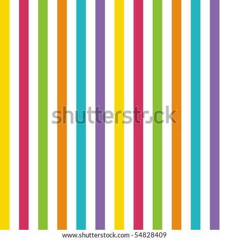 Bright Rainbow Stripes - stock photo