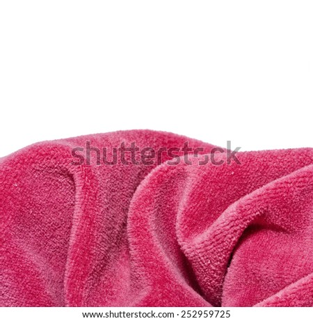 Bright red a fabric  fleece - stock photo