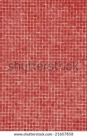 bright red mosaic - stock photo