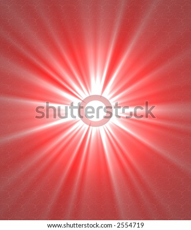 bright red star abstract design illustration - stock photo