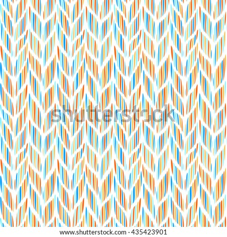 Bright seamless background with waves, illustration - stock photo
