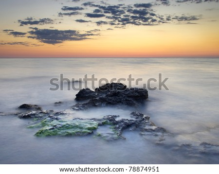 Bright seascape. Composition of the nature - stock photo
