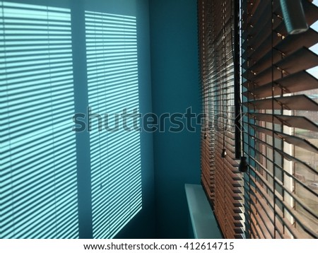 Bright shadow from window blinds