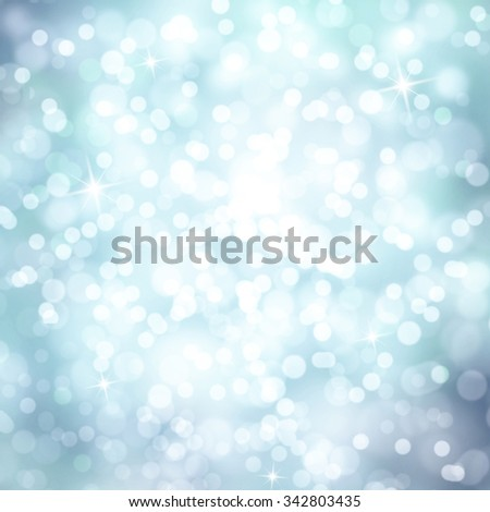 Bright shiny cyan color abstract bokeh circle shape copy space background with sparkle. Beautiful New Year and Christmas Holiday bokeh illustration copy space background. - stock photo