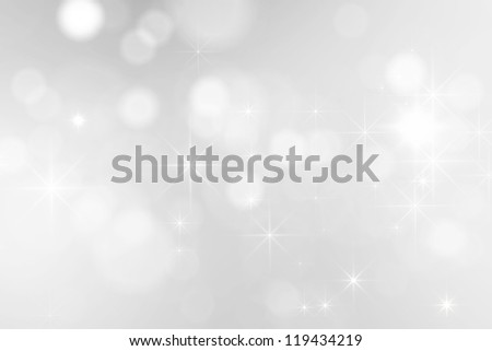 bright silver sparkles background - stock photo