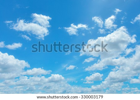 Bright sky and white cloud