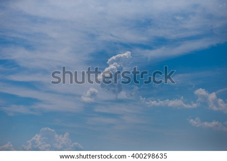 Bright sky in the sunny weather - stock photo