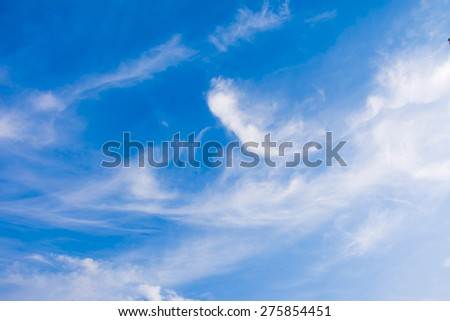 bright sky on cloud background - stock photo