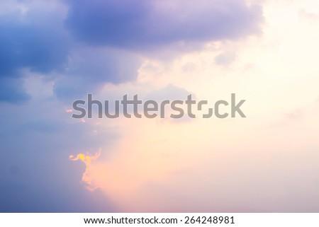 Bright Sky sunset background - stock photo