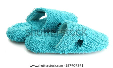 bright slippers, isolated on white