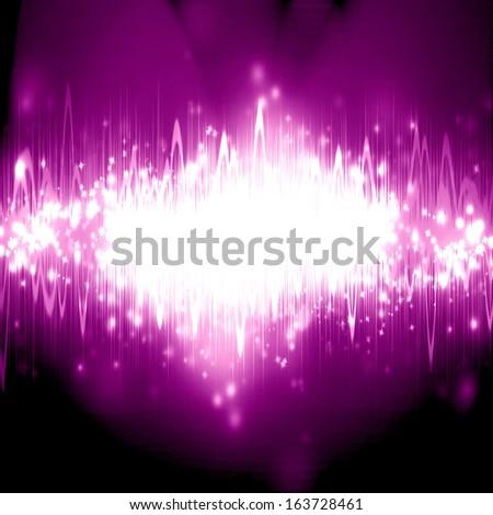 bright sound wave on a dark background - stock photo