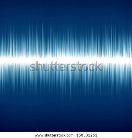 bright sound wave on a dark blue background - stock photo