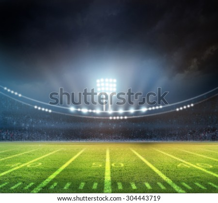 bright spotlights - stock photo