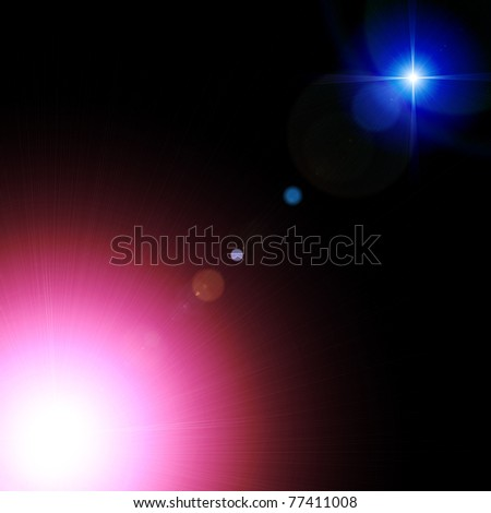 Bright stars burst background - stock photo