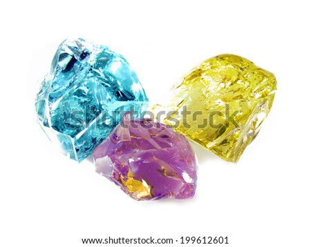 Bright stones glass in cmyk color