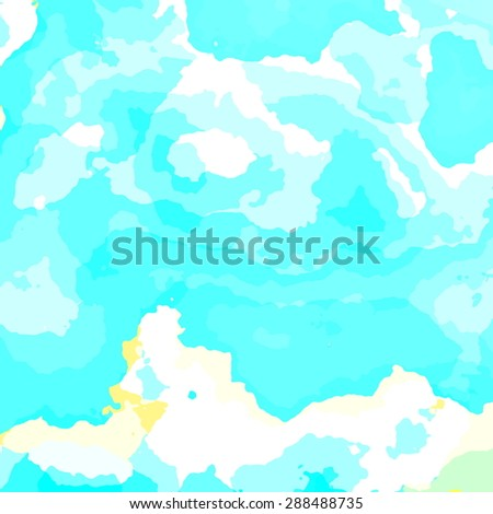 Bright summer day. Abstract fractal pattern design for banner or poster. Could be used for business card, brochure cover or presentation. Cloud on blue sky. Creative art element. Scenery of clouds. - stock photo