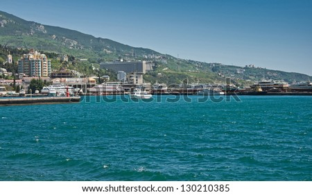 Bright summer day in Yalta. Crimea, Ukraine.