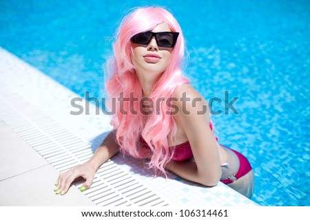 Bright summer look - stock photo