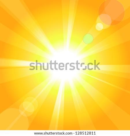 Bright sun. - stock photo