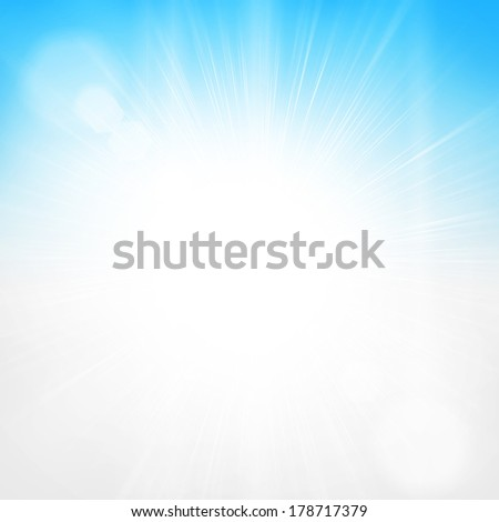 Bright sun light sky background - stock photo