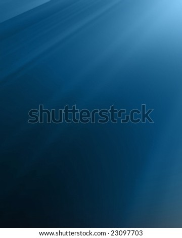 bright sun on a dark blue background - stock photo