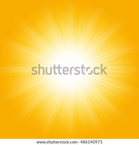 Bright sunbeams, shiny summer background with vibrant yellow & orange colors.